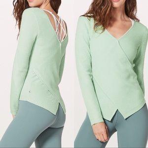 NWOT Lululemon Wrap it Back Sweater Seabreeze ❤️
